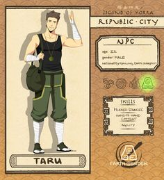 Republic City NPC: Taru by Chilamang.deviantart.com on @DeviantArt