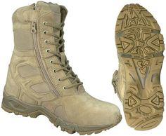 New Desert Tan Tactical Combat Boots Side Zipper, « Shoe Adds for your Closet