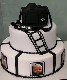 Birthday Cakes For Men, Man Birthday, Celebration Cakes, Birthday Celebration, Camera Cakes, Camera Decor, Fondant Cakes, Cake Decorating, Birthdays