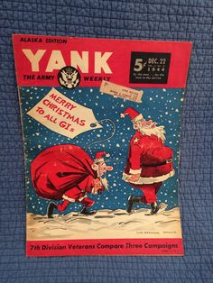 A personal favorite from my Etsy shop https://www.etsy.com/listing/257539445/rare-1944-yank-the-army-weekly-magazine