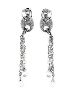 3e5f983a37d Gucci Horsebit Diamond Earrings in White Gold