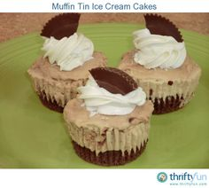 I absolutely love ice cream cakes. These mini ice cream cakes are perfect for a party or for dessert. You can even make multiple kinds with each person's favorite flavor.