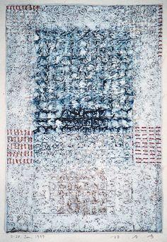 D-28.Jun.1999 mixed media painting on paper HAYASHI Takahiko 林孝彦