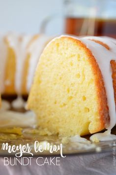 Meyer Lemon Bundt Cake is a lovely way to celebrate Meyer lemons! A simple (and small!) bundt cake recipe that's perfect for brunch or tea time. Meyer Lemon Bundt Cake Recipe, Meyer Lemon Recipes, Lemon Desserts, Dessert Recipes, Lemon Creme Cake, Citrus Recipes, Lemon Cupcakes, Bunt Cakes, Cupcake Cakes