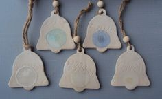 Set of 5 Christmas Bell decorations £12.50