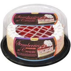 Jon Donaire Strawberries N Cream Ice Cream Cake, 40 oz Beef Soup Recipes, Rich Cake, Ice Cream, Cream Cake, Grocery Lists, Strawberries And Cream, Cakes And More, Food Cravings, Strawberry