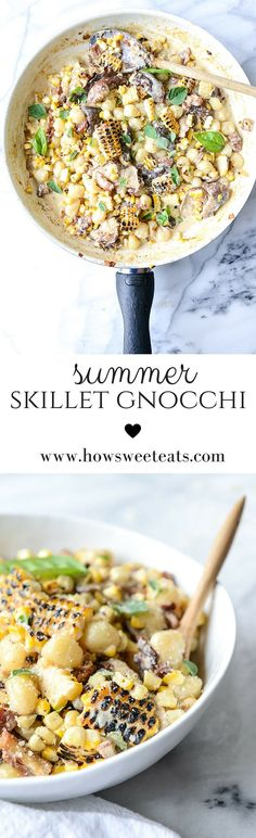 Summer Skillet Gnocchi by /howsweeteats/ I http://howsweeteats.com