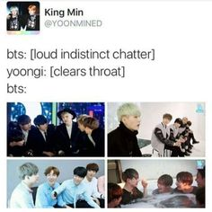 Yoongi has been the speaker of the group these days XD Suga-MC~ XD