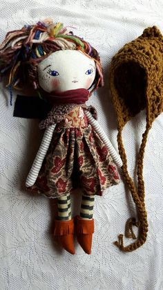17ish JOY DOLL  earthy funky joy doll girl handmade