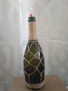 Wine Bottle Tiki Torch by AllOnAWhimCreations on Etsy