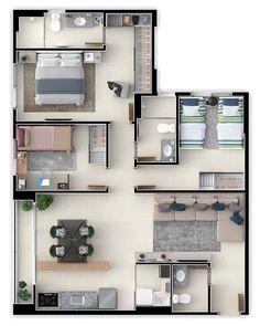 Modern home design Sims House Plans, House Layout Plans, Dream House Plans, Small House Plans, House Floor Plans, Bungalow Floor Plans, Small House Design, Modern House Design, Small Modern House Exterior