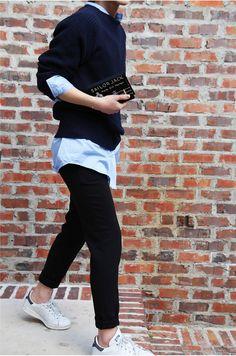 longsleeve Button down + sweater