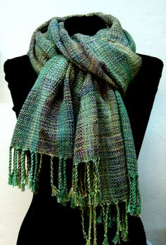 Handwoven Summer Shawl /  Wrap /  Scarf OOAK by PenelopeNow etsy