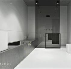 Une salle de bains avec un design très épuré, réalisée par KUOO architects