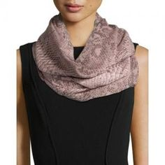 80% off Stella McCartney Snake-Print  Rectangle Scarf Cashmere now only $141.75