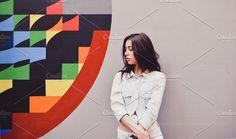 Pretty Girl near the Graffiti Wall by Pro.Motion on @creativemarket graffiti, girl, wall, fashion, people, young, beautiful, urban, model, female, fun, pretty, portrait, city, beauty, lifestyle, street, art, person, attractive, summer, hipster, happy, caucasian, cute, teenager, teenage, cool, trendy