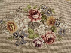 This Pin was discovered by Еле Cross Stitch Rose, Cross Stitch Flowers, Cross Stitch Charts, Cross Stitch Designs, Cross Stitch Embroidery, Hand Embroidery, Cross Stitch Patterns, Needlepoint Pillows, Needlepoint Canvases