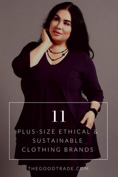 These 11 brands are paving the way in ethical fashion by offering more inclusive sizing! Pictured: Diane Kennedy Clothing // The Good Trade Plus Size Fashion Tips, Plus Size Outfits, Sustainable Clothing Brands, Sustainable Fabrics, Fashion 2018 Trends, Plus Size Brands, Fair Trade Fashion, Clothing Sites, Curvy Plus Size