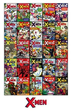 Marvel Comics Stan Lee X-MEN #1-25 Collage Unsigned 11x17 Comic Cover Photograph @ niftywarehouse.com #NiftyWarehouse #Nerd #Geek #Entertainment #TV #Products