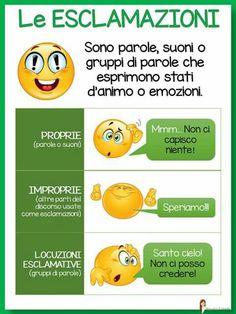 . Italian Grammar, Italian Language, Learn To Speak Italian, Italian Lessons, Learning Italian, Primary School, Emoticon, Back To School, Education