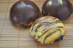Petits fondants banane chocolat en coque chocolatée