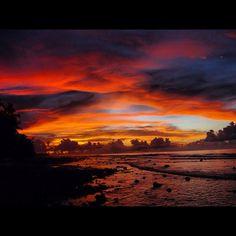 Sunset in the British territory Diego Garcia - Indian Ocean British Overseas Territories, Diego Garcia, Virgin Islands, Sunrises, Our World, Dream Homes, Aviation, Bucket, Journey