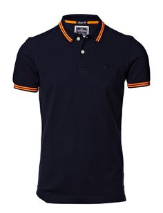 Superdry - tipped collar polo.