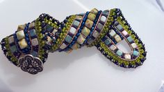 Pharaoh's Finery - Redux with Michelle Gowland #loom #weaving #leather #beads #bracelet