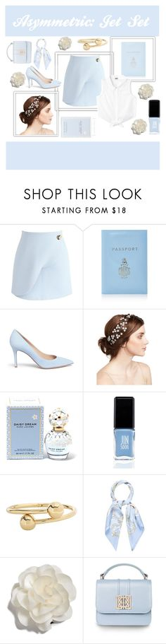 """Jet Set"" by natalielikesshopping ❤ liked on Polyvore featuring Chicwish, Mark Cross, Gianvito Rossi, Jennifer Behr, Marc Jacobs, JINsoon, J.W. Anderson, Hermès, Cara and cute"