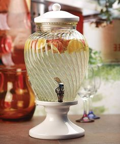 Another great find on #zulily! Spiral Shell Glass 1.5-Gal. Beverage Dispenser by Circle Glass #zulilyfinds