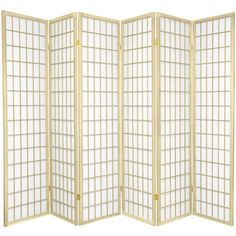 FREE SHIPPING! Shop Wayfair for Oriental Furniture 70 x 84 Window Pane Shoji 6 Panel Room Divider - Great Deals on all Furniture products with the best selection to choose from!