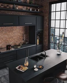 Top Kitchen Trends Design Ideas and Images for 2019 Part kitchen ideas; Top Kitchen Trends Design Ideas and Images for 2019 Part kitchen ideas; Mawa Design, Küchen Design, House Design, Design Ideas, Design Trends, Design Concepts, Black Kitchens, Cool Kitchens, Home Interior