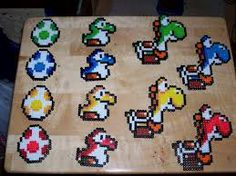 Mario hama bead patterns - Yoshis