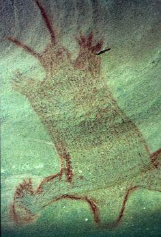 Anthropomorph//Aboriginal art, Mt Manning, near Bucketty NSW Australia