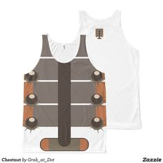 Chestnut All-Over Print Tank Top