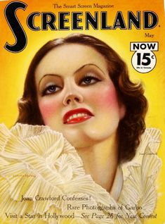 Screenland Magazine with Joan Crawford 1933