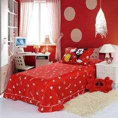 Mickey Mouse Red Disney Sheet Set