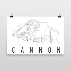 Cannon Ski Map Art, Cannon Mountain NH, Cannon Trail Map, Cannon Mountain Ski Resort Print, Cannon Poster, Art, Gift