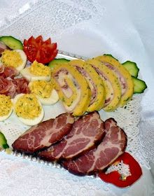 Juditka konyhája: TOJÁSTEKERCS Cooking Recipes, Healthy Recipes, Healthy Food, Creative Food, Bacon, Recipies, Menu, Easter, Cake