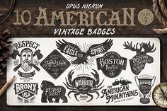 American Vintage Badges Part 4 by OpusNigrum on @creativemarket