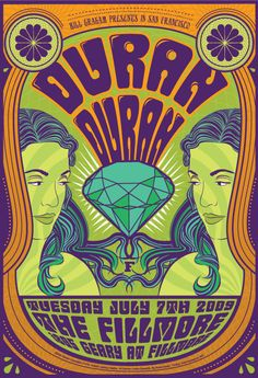 fillmore posters | ... . Web Development. Video. Strategy. | Duran Duran Fillmore poster