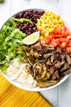 Better Than Chipotle Homemade Steak Burrito Bowls   Gimme Delicious