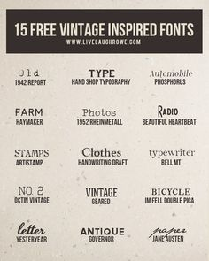 you love free fonts then youll want to check out these 15 free vintage inspired fonts Who doesnt love a vintage font you love free fonts then youll want to check out thes. Farm Fonts, Sign Fonts, Cursive Fonts, Google Font, Dafont, Farmhouse Font, Typographie Fonts, Vintage Inspiriert, Font Combinations