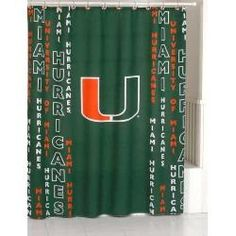Miami Hurricanes Shower Curtain