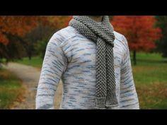 How to knit men's scarf - video tutorial with detailed instructions.(erkek için atkı yapılışı - renk değiştirip bayan içinde yapılabilir.)