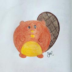 Jalou darlings ☺️ Toca #castor en los #rechonchos Buen día! #jalou_darling #animales_rechonchos #chubby_animals #beaver #pretty #cute #pencil #sketch #draw_a_day #esther #esther_maroto