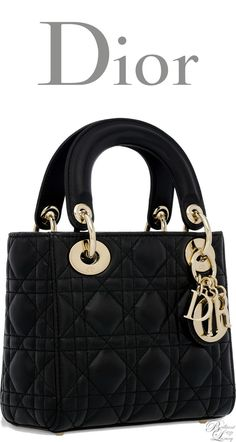 a0e8a5fc4154 Brilliant Luxury   Dior Classic 2016 ~ Mini Lady Dior bag in black lambskin Dior  Purses