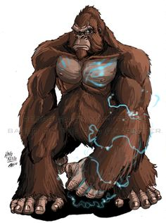 Godzilla Neo - King Kong by KaijuSamurai King Kong Vs Godzilla, Godzilla Vs, Manga Tribal, Giant Monster Movies, Character Art, Character Design, Batman And Superman, T Rex, Fantasy Characters