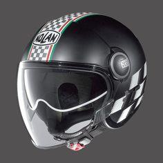 Casco moto jet nero Nolan N21 VISOR FLAT BLACK ASSO