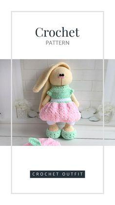 Crochet Animal Patterns, Amigurumi Patterns, Amigurumi Toys, Baby Stuffed Animals, Yarn Bee, Crochet Rabbit, Knitted Cat, Crochet Projects, Crochet Ideas